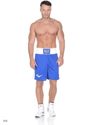Трусы боксерские Elite Everlast. Цвет: синий, белый