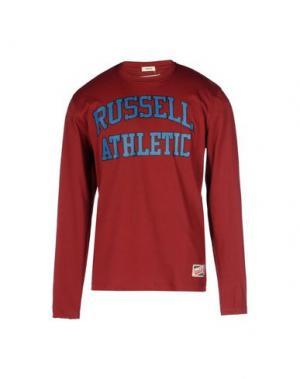 Футболка RUSSELL ATHLETIC. Цвет: красно-коричневый