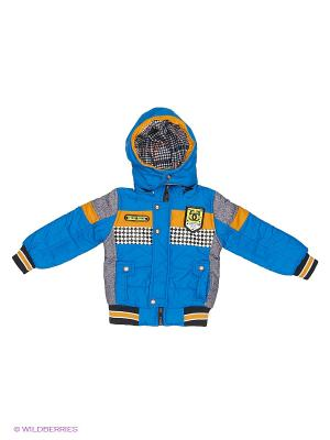 Куртка Happy Bear. Цвет: синий, серый