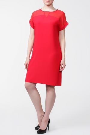 Платье First Orme. Цвет: коралловый
