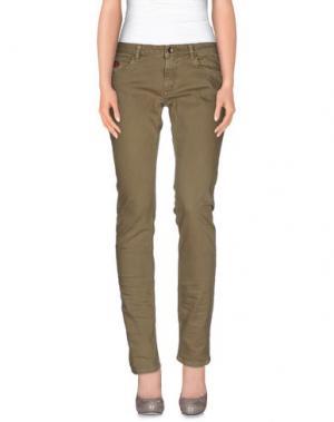 Джинсовые брюки UNLIMITED. Цвет: хаки
