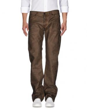 Джинсовые брюки RING. Цвет: хаки