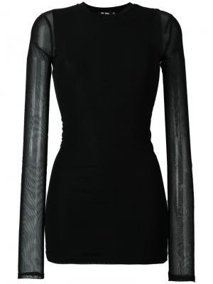 Прозрачная блузка Blk Dnm. Цвет: чёрный