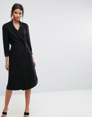 Selected Платье в стиле блейзера с длинными рукавами Violie. Цвет: черный
