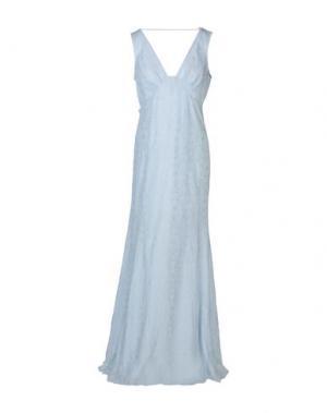 Длинное платье PATRIZIA PEPE SERA. Цвет: небесно-голубой