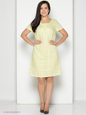 Платье D`imma. Цвет: светло-желтый