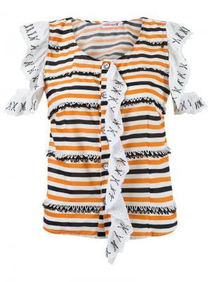 Stripe ruffled blouse Isabela Capeto. Цвет: белый