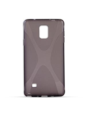 Чехол-панель для Samsung Galaxy Note 4, Х-дизайн, серый Belsis. Цвет: серый