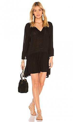 Мини платье agata Vix Swimwear. Цвет: черный