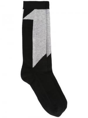 Носки с цифрами 11 By Boris Bidjan Saberi. Цвет: чёрный
