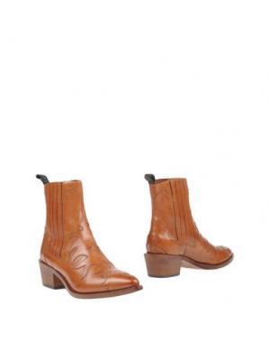 Полусапоги и высокие ботинки SARTORE. Цвет: желто-коричневый