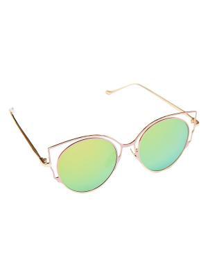 Солнцезащитные очки Aiyony Macie. Цвет: розовый, желтый, золотистый
