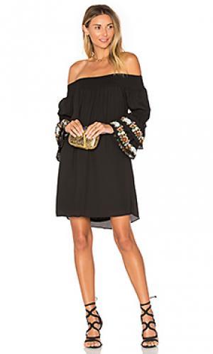 Платье со спущенными плечами dina VAVA by Joy Han. Цвет: черный