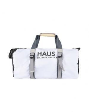 Дорожная сумка HAUS GOLDEN GOOSE. Цвет: белый