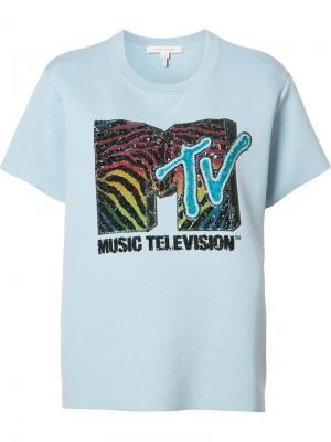 Футболка MTV Marc Jacobs. Цвет: синий