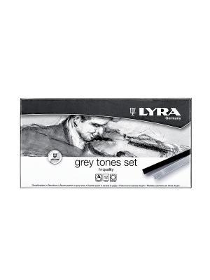 LYRA POLYCRAYONS пастель сухая 12 цв серые тона. Цвет: серый, белый, черный