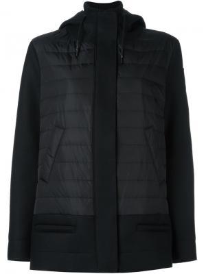 Стеганая куртка средней длины Rossignol. Цвет: чёрный