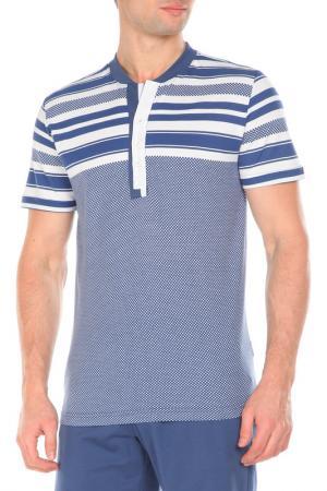 Пижама с шортами Relax Mode. Цвет: индиго