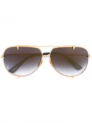 Солнцезащитные очки Talon Dita Eyewear. Цвет: металлический