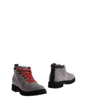 Полусапоги и высокие ботинки PÀNCHIC. Цвет: серый