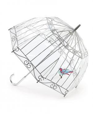 Зонт-трость Птичка в клетке  by Fulton Lulu Guinness. Цвет: без цвета