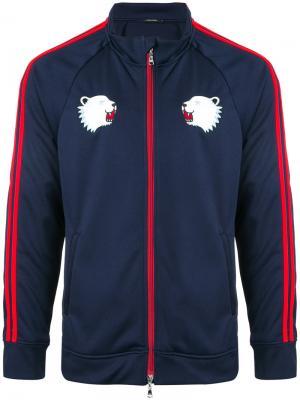 Спортивная куртка с полосками на рукавах Guild Prime. Цвет: синий