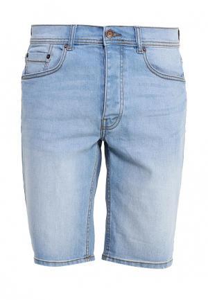 Шорты джинсовые Burton Menswear London. Цвет: голубой