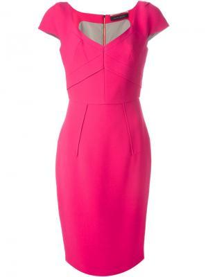 Платье Casson Roland Mouret. Цвет: розовый и фиолетовый