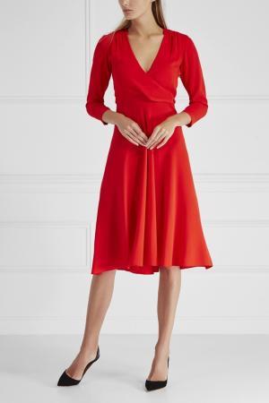 Однотонное платье Cyrille Gassiline. Цвет: красный