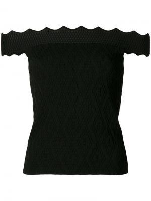 Блузка с открытыми плечами Jonathan Simkhai. Цвет: чёрный