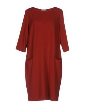 Платье до колена CALALUNA. Цвет: ржаво-коричневый