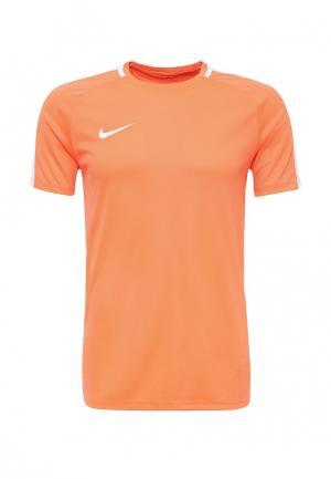 Футболка спортивная Nike. Цвет: оранжевый