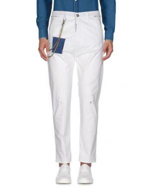 Повседневные брюки YES LONDON. Цвет: белый