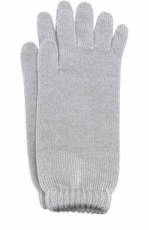 Удлиненные вязаные перчатки Catya. Цвет: серый