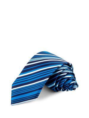 Галстуки CASINO. Цвет: синий, белый, бирюзовый