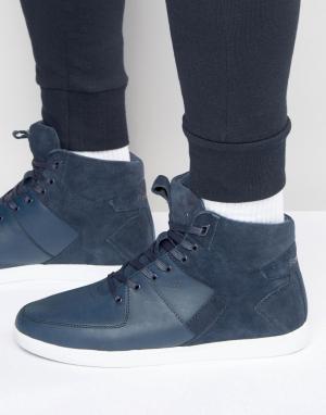 Boxfresh Высокие кроссовки Camberwell. Цвет: синий
