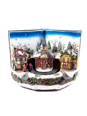 Новогодняя композиция с подсветкой Волшебная книга Русские подарки. Цвет: красный, белый, зеленый