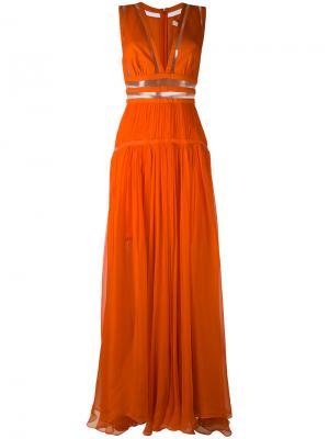 Платье Tiger Maria Lucia Hohan. Цвет: красный