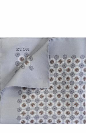 Шелковый платок с принтом Eton. Цвет: серый