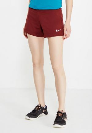 Шорты спортивные Nike. Цвет: бордовый