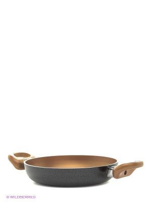 Сковорода с двумя ручками Frabosk. Цвет: золотистый, черный