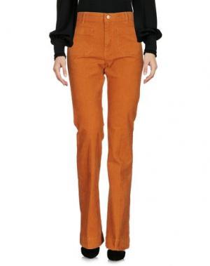 Повседневные брюки WRANGLER. Цвет: ржаво-коричневый