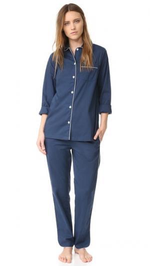 Пижама Macgill Three J NYC. Цвет: темно-синий белый окантовка