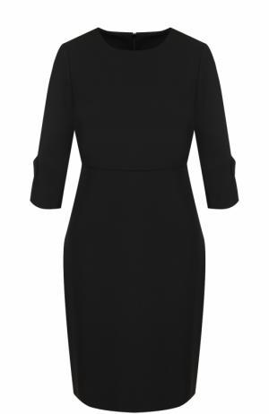 Приталенное мини-платье с укороченным рукавом Tara Jarmon. Цвет: черный
