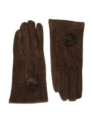 Перчатки Nice Ton. Цвет: темно-коричневый