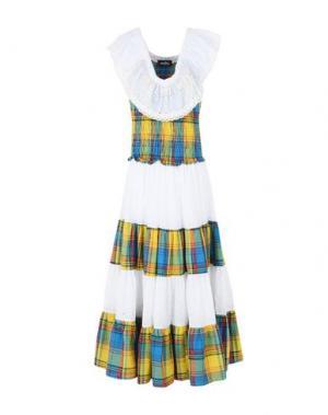 Длинное платье NUDHA. Цвет: желтый
