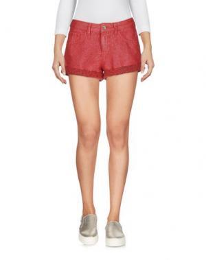 Джинсовые шорты GUESS. Цвет: красный