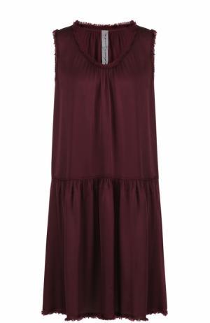 Мини-платье свободного кроя с бахромой Raquel Allegra. Цвет: бордовый