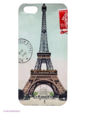 Чехол для IPhone 5 Марка из Парижа Mitya Veselkov. Цвет: серо-зеленый, черный, коричневый