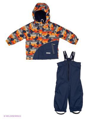 Комплект одежды Kerry. Цвет: синий, оранжевый